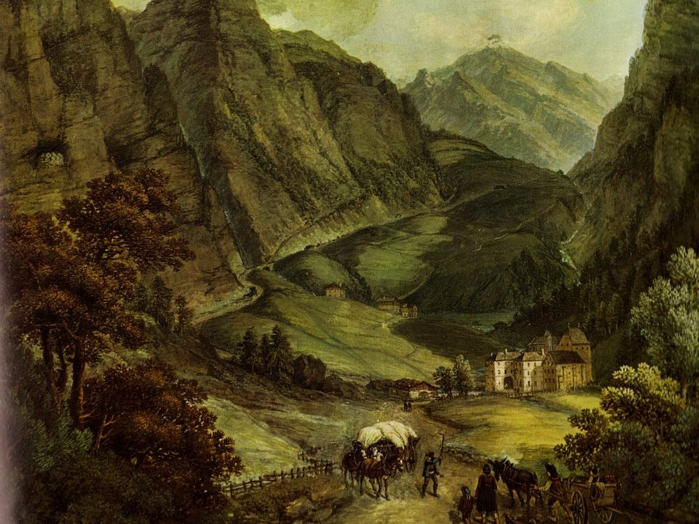 The old brenner pass road in South Tyrol