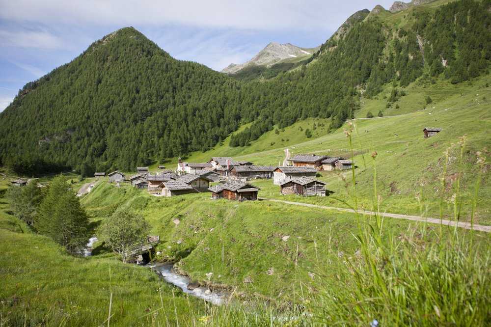 Fane Alpine village in the valley of trails