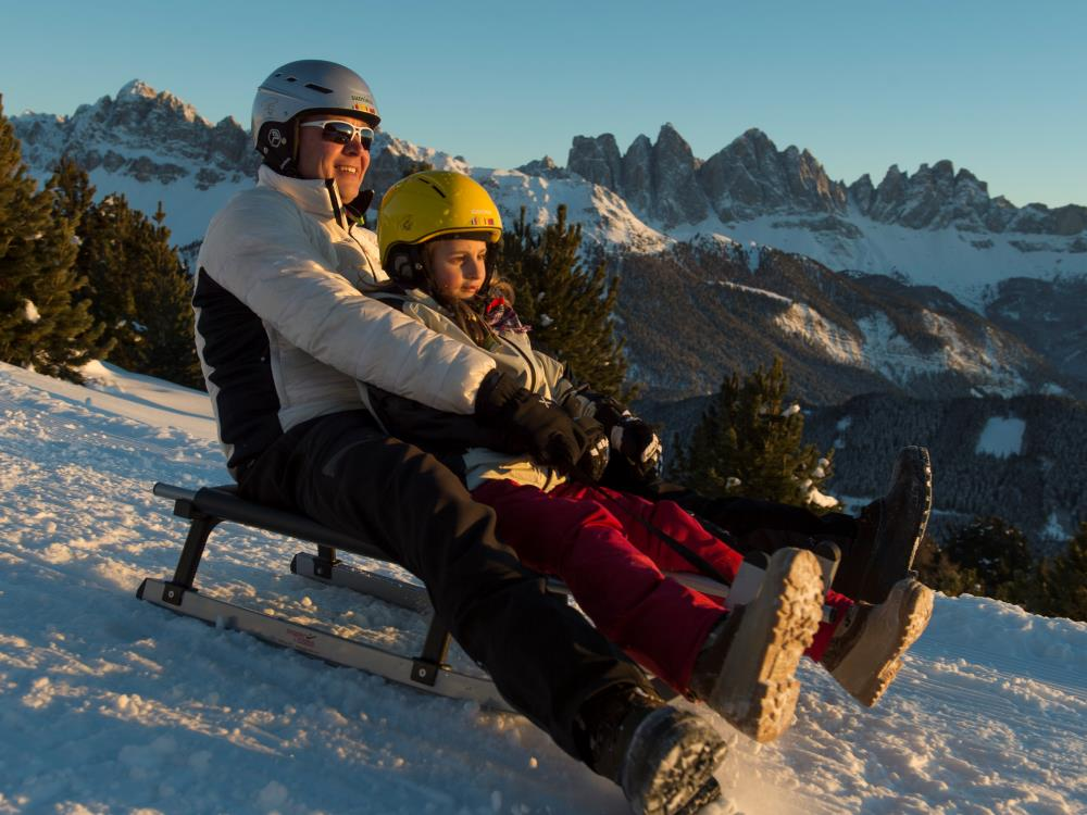 Sledding in the Isarco Valley