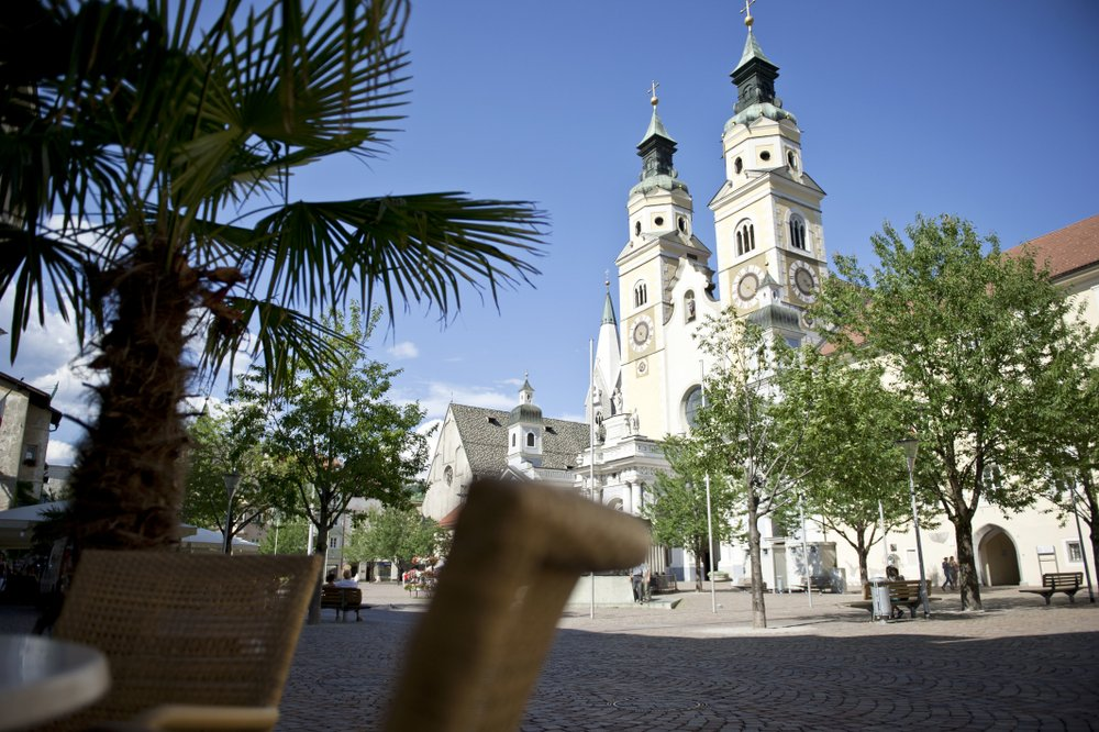 The baroque cathedral's two towers are emblems of the city of Bressanone/Brixen