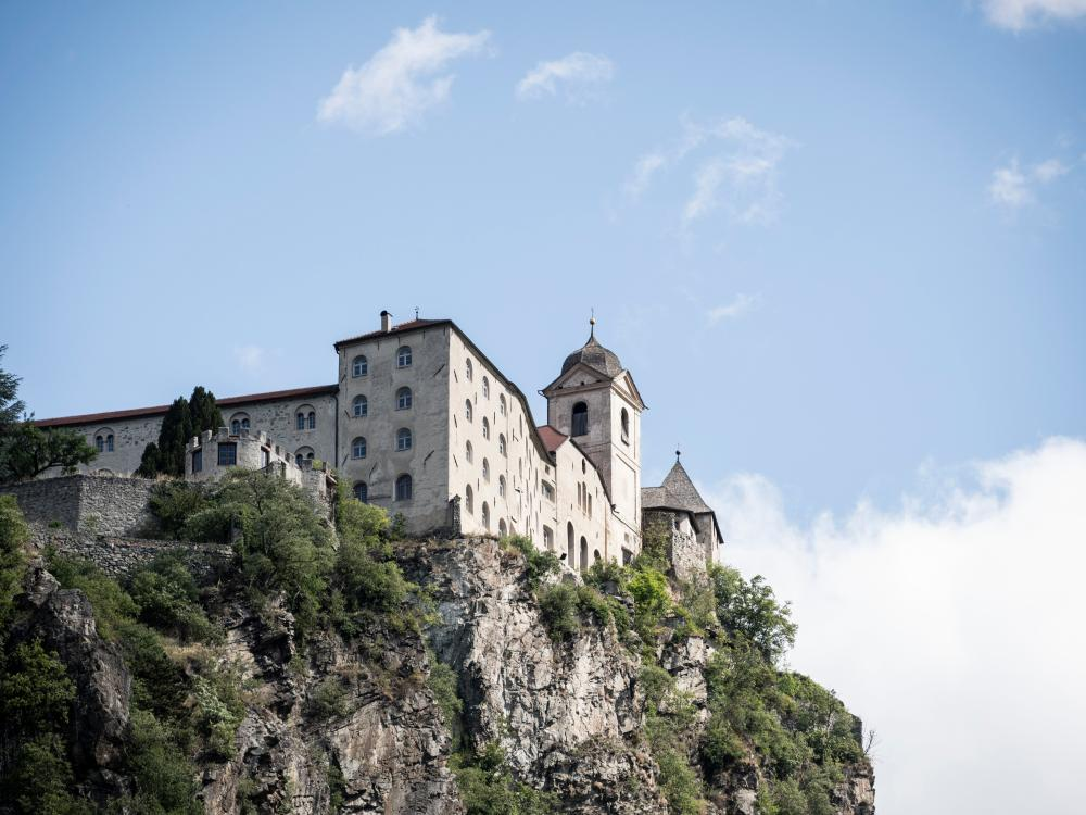Sabiona Monastery in Chiusa in the valley of trails