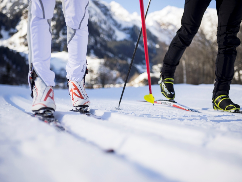 Cross-Country Skiing in the Valley of trails